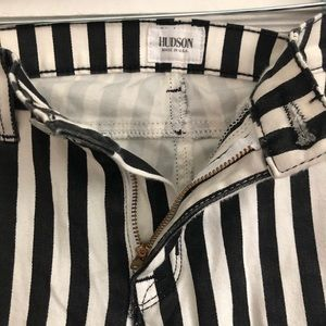 Hudson Black and White striped Jeans